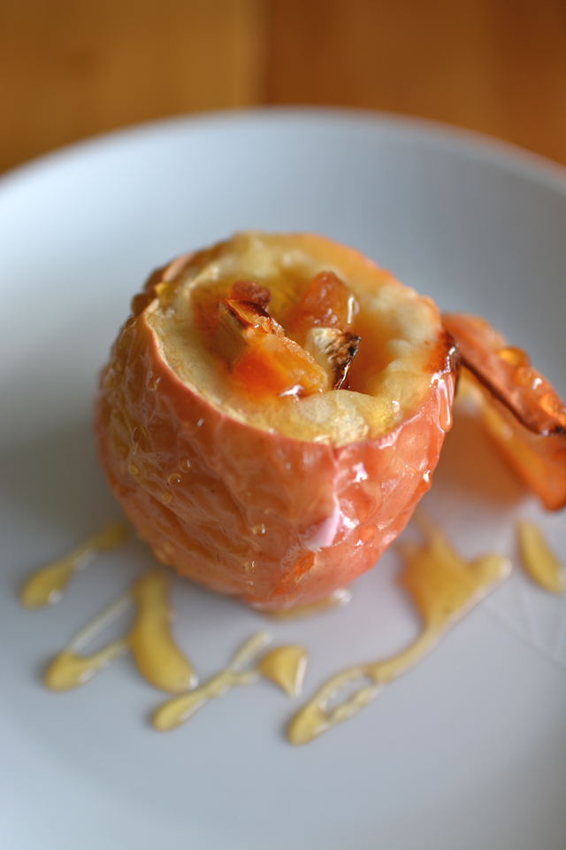 01 Camembert and Apricot Baked Apples