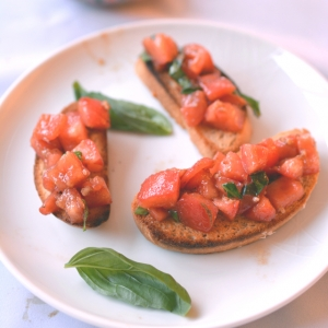 Italian Bruschetta with Homemade Olive Oil Bread