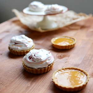 Blood Orange Meringue Pies