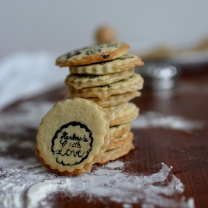 Stamped Marzipan Layer Cookies