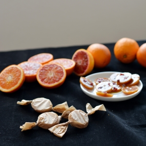 Salted Blood Orange Toffees
