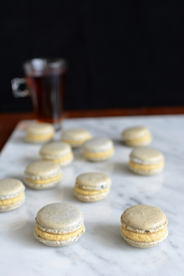 how to make earl grey macaron filling