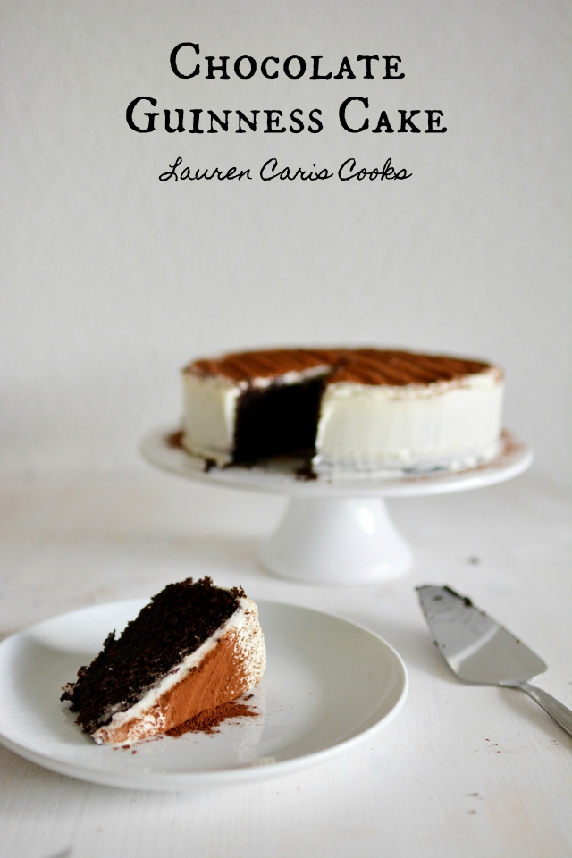 Chocolate Guinness Cake - Lauren Caris Cooks