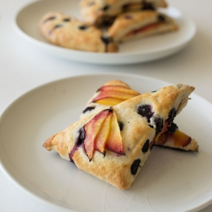 Summery Blueberry and Nectarine Scones