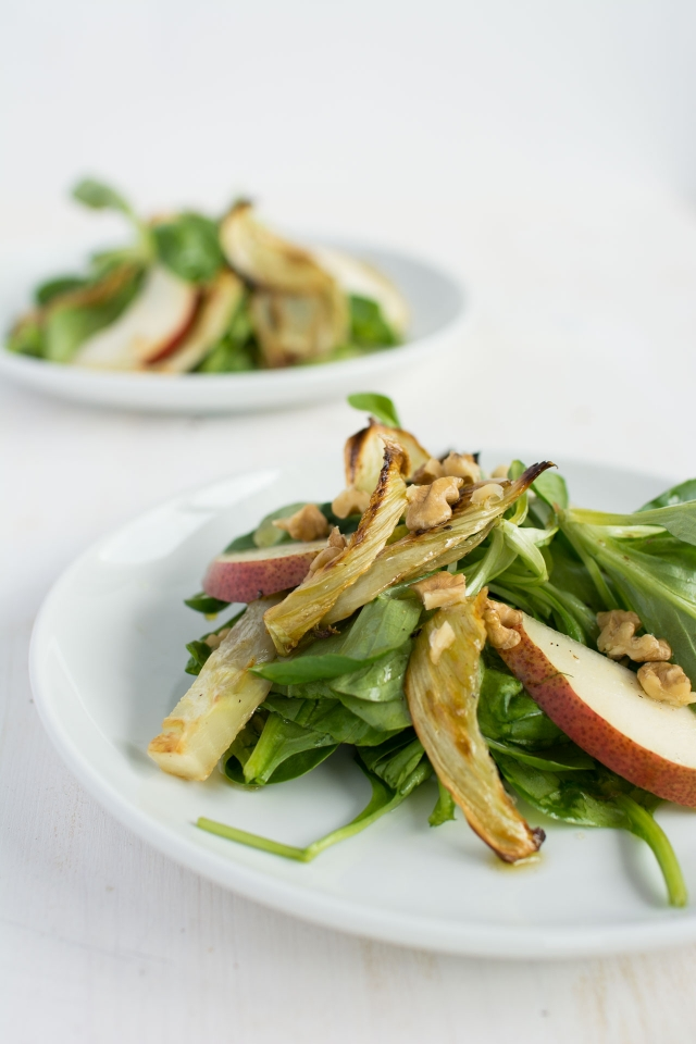 Roasted Fennel and Pear Salad - Lauren Caris Cooks