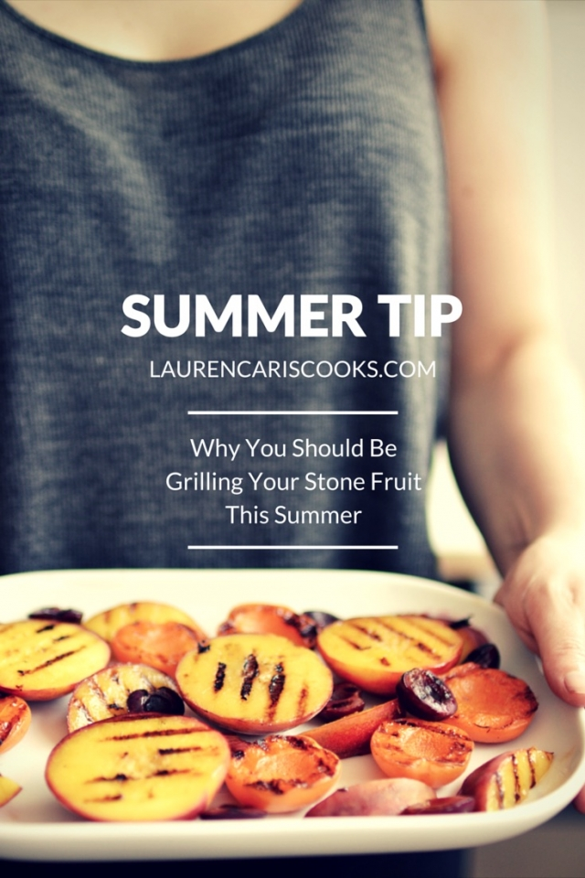 Take your Summer barbecue's up a notch this summer by grilling your fruit! It sounds crazy but it works! From Lauren Caris Cooks