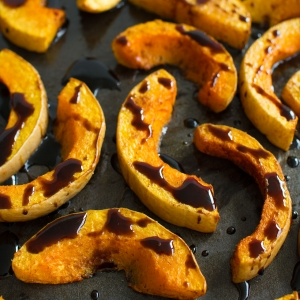 Roasted Butternut Squash with a Balsamic Reduction