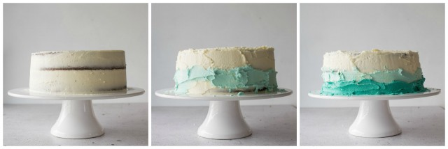 Step by Step Guide to Assembling and Ombre Cake
