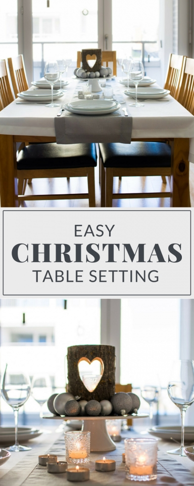Learn how to create the PERFECT Easy Christmas Table setting with items you already have in the house! No fancy DIY needed! Click here for the tutorial for this classic, modern Christmas table setting!