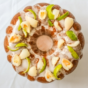 Lime and Lychee Bundt Cake