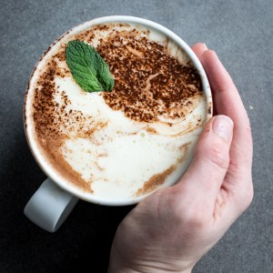 Vegan Peppermint Hot Chocolate
