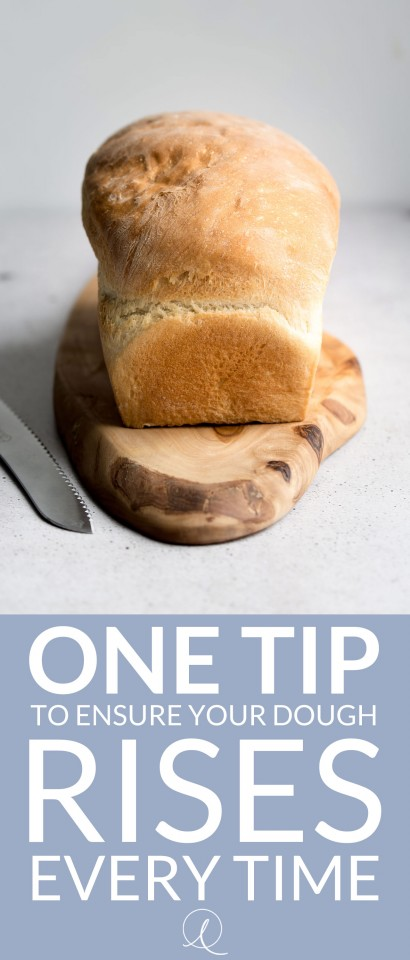 This one tip will help you ensure your dough rises every time. Whether you're making bread, pizza or anything else, follow this advice and you'll never have flat dough again!