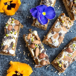 Loaded Granola Bars with Vegan Caramel
