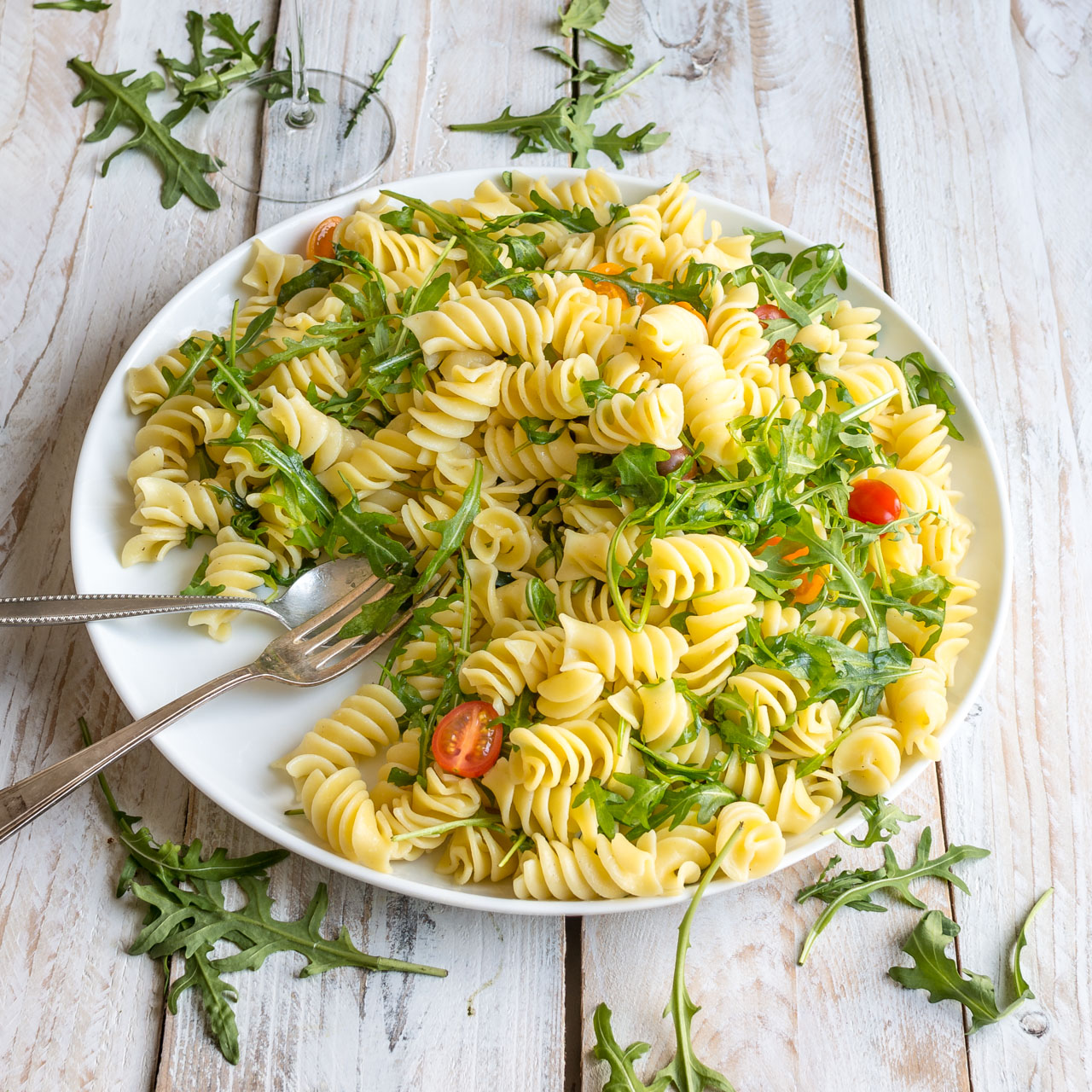 Lemon Rocket Pasta Salad Lauren Caris Cooks