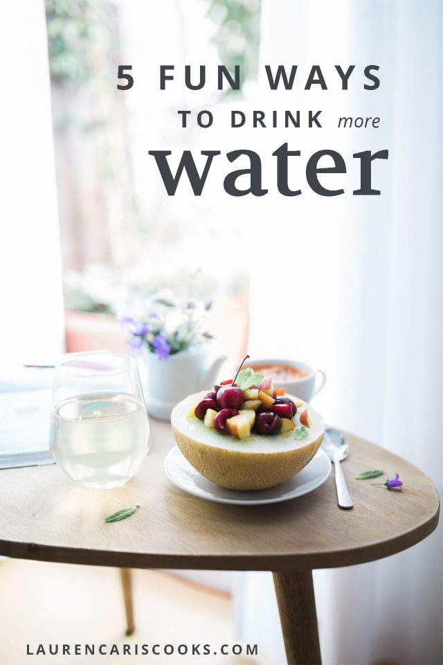 5 fun ways to drink more water! Check out my top tips and video to help you improve your day to day habits and feel GREAT!