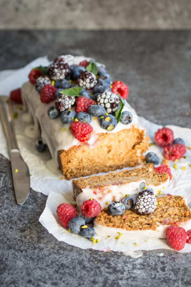 Raspberry And Blueberry Loaf Tin Cake