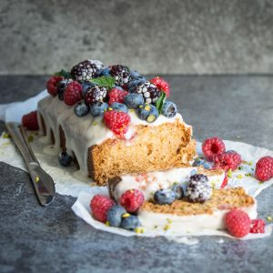 Vegan Lemon Raspberry Loaf Cake
