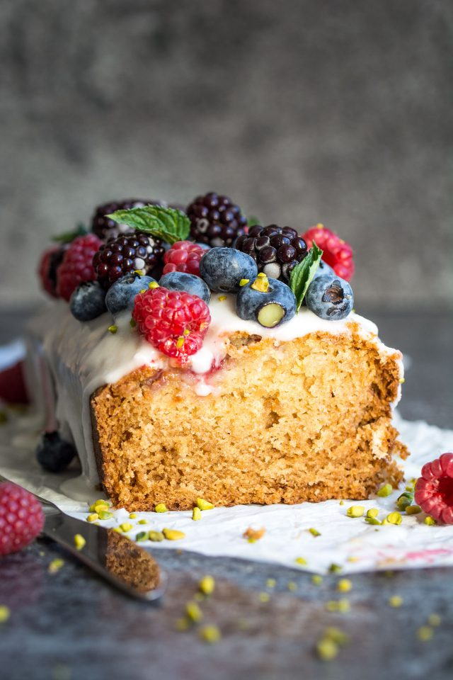 Vegan Lemon Raspberry Loaf Cake. Deliciously moist and crumbly and ...