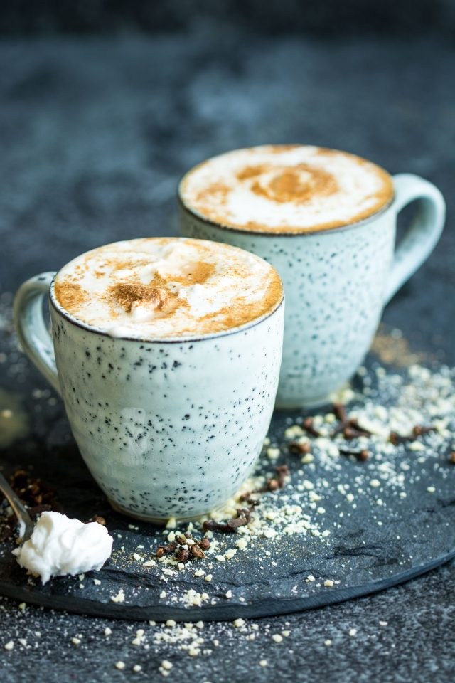 Vegan Chai Tea Lattes. Refined sugar free and ready in under 15 minutes!