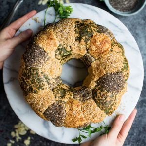 This herb and seed tear and share monkey bread would be perfect for a gathering or party!