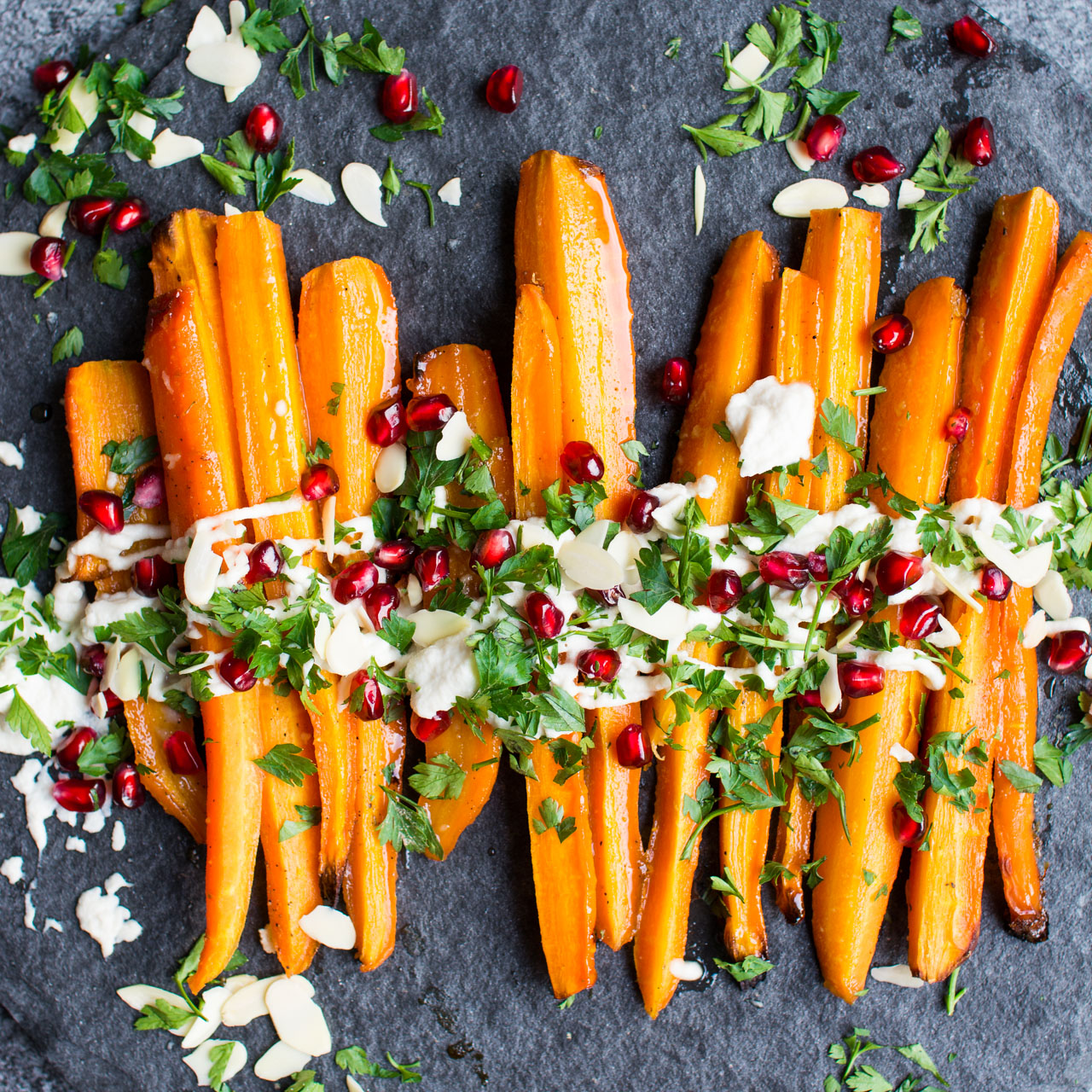 Maple Mustard Roasted Carrots