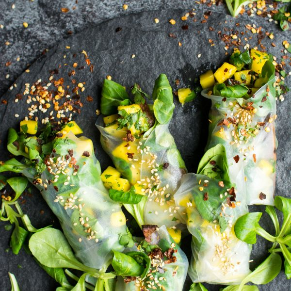 Vegan Winter Spring Rolls Two Ways! Crispy Baked Tofu with a zingy ...