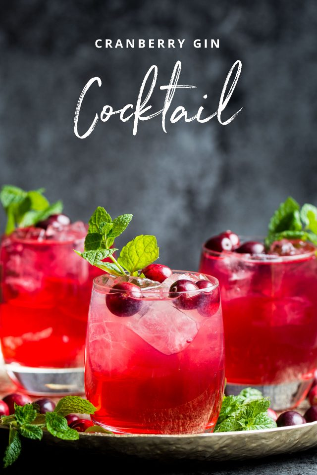 A deliciously refreshing cocktail featuring gin and cranberry juice!