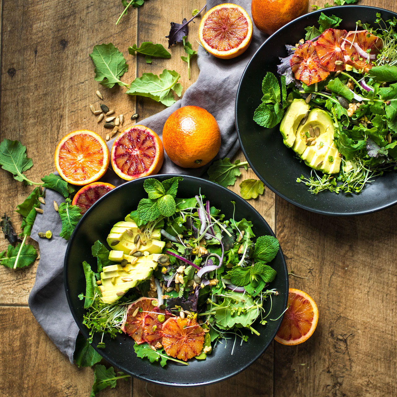 Blood Orange Salad With A Balsamic Vinegar Dressing A Food Photography Video Lauren Caris Cooks