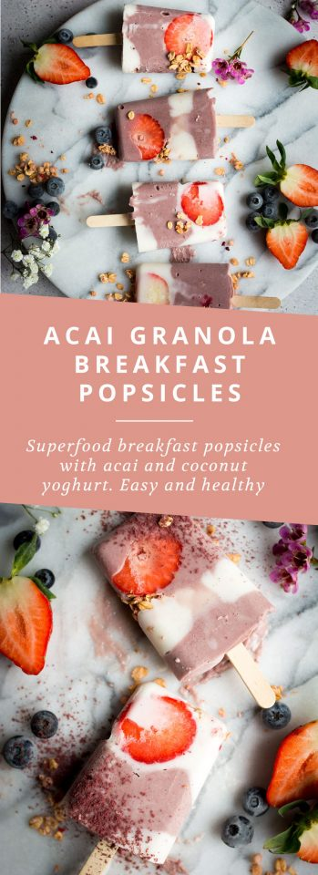 Acai Granola Breakfast Popsicles