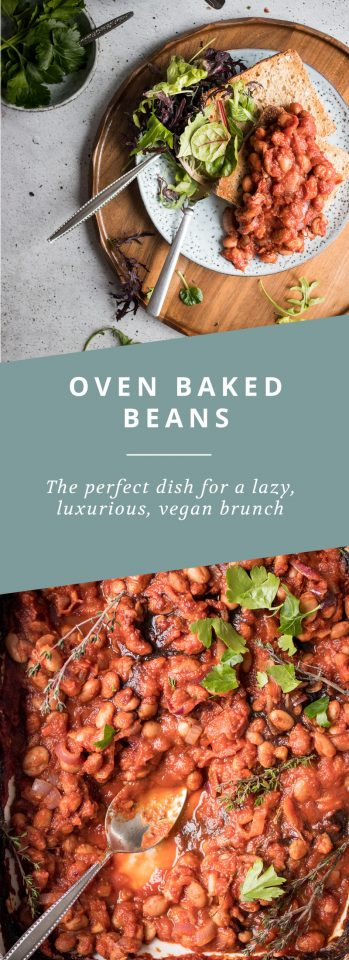 Oven Baked Beans, the perfect vegan recipe for a lazy brunch!