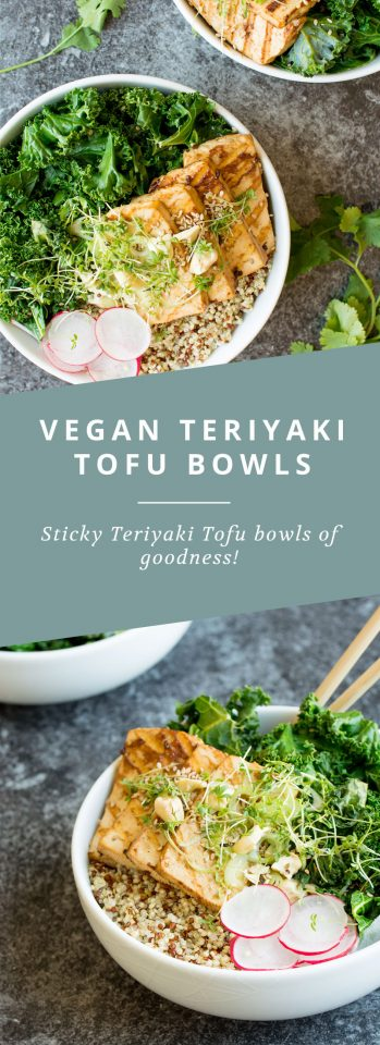 These Vegan Tofu Teriyaki Bowls are healthy, full of greens, grains and packed with flavour!