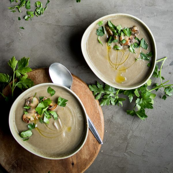 The best mushroom soup recipe I've ever had! Mushroom lovers rejoice, this soup is full of hearty, earthy mushrooms that don't have to compete with other flavors to shine through.