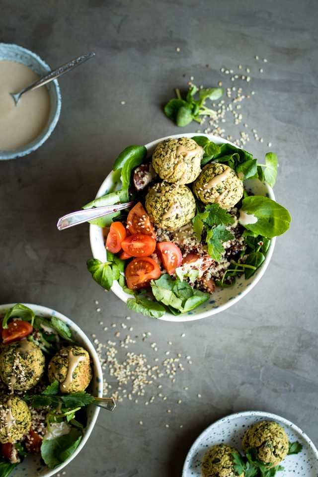 These mixed vegetable buddha bowls with tahini miso dressing will make you feel good from the inside out!