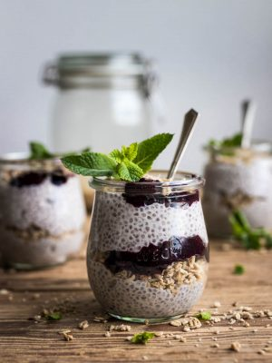 Fresh Raspberry Chia Pudding