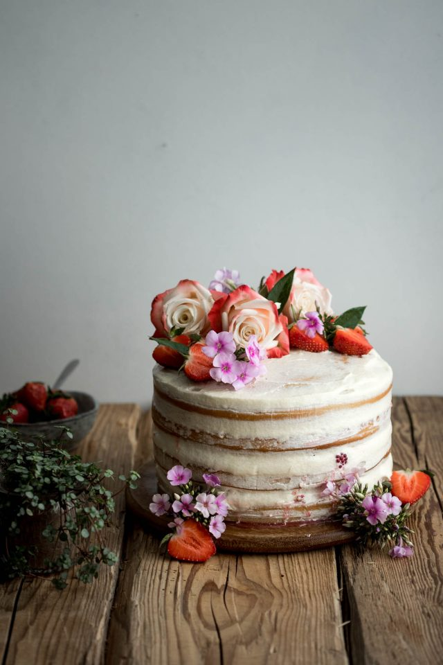 Vegan Vanilla And Berry Layer Cake Lauren Caris Cooks