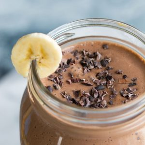 This peanut butter banana chocolate smoothie is more like a dessert than a breakfast... but it's actually healthy!! Why not start your day in the most FUN way possible, with this super easy, delicious smoothie!
