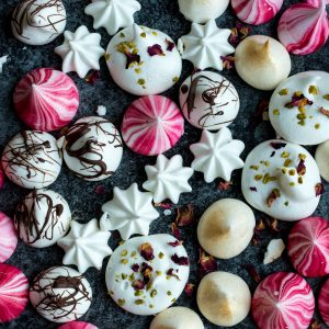 Festive Vegan Meringue Kisses