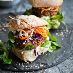 Vegan Quinoa and Kidney Bean Burgers
