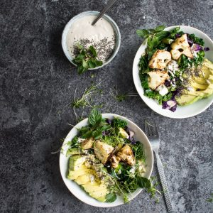 Roasted Cauliflower Detox Bowl with Tahini Sauce