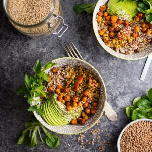 Warm Lentil and Tomato Salad