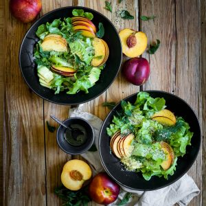 Nectarine Salad with Dill Vinaigerette