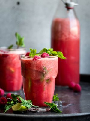 Watermelon Basil Cooler. A cool, refreshing summer drink that takes 10 minutes to make!